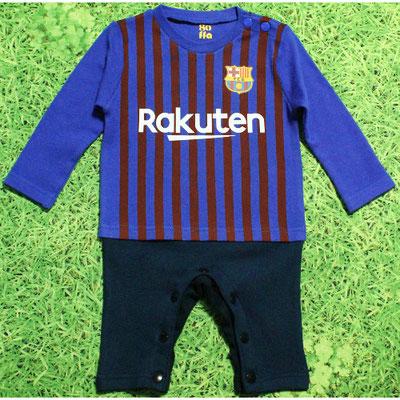 バルセロナのベビー服、カバーオール、長そで2018/2019