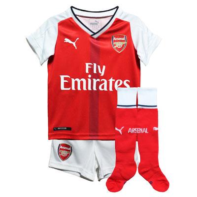 アーセナルのベビー・幼児サイズのサッカーユニフォーム