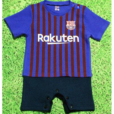 バルセロナのベビー服、ショートオール・ロンパース2018/2019