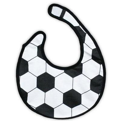 サッカーボール柄のスタイ(よだれかけ)