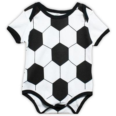 サッカーボール柄のロンパース
