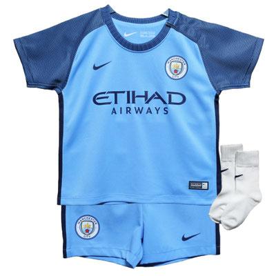 マンチェスター・シティのベビー・幼児サイズのサッカーユニフォーム