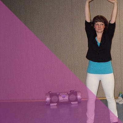 Energy Dance® Dehnübungen Entspannung am Kursende in Waldburg, HOT, Chemnitz