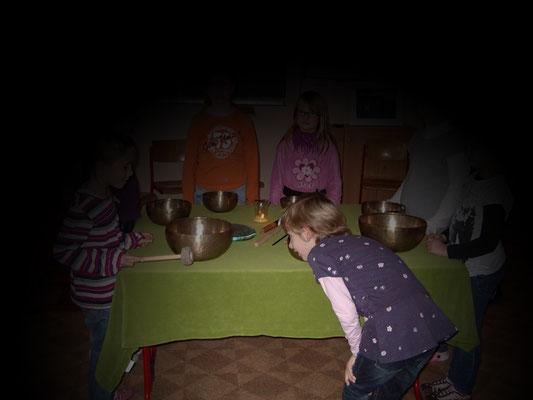 Klang mit Kindern, z.B. Kindergeburtstag in der Salzgrotte Wolkenburg