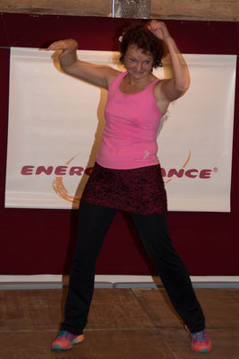 Manuela Wende Trainerin Mastertrainerin i.A. Energydance® auf dem Festival