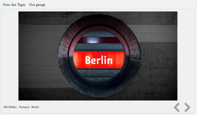 "- 04.09.2017 - Berliner Fenster | Foto des Tages  ""HOTSPOT : BERLIN!"""