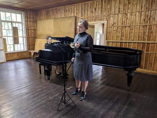 Performance of Myaskovsky songs with Elizaveta Pakhomova