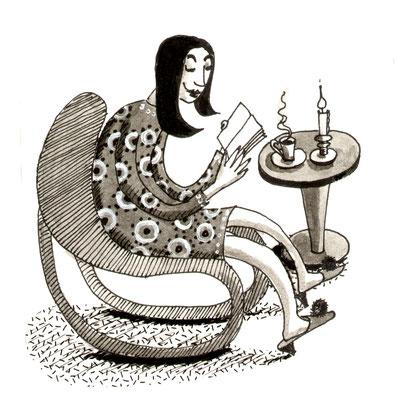 Trinken, gemütlich, warmes getränk, Illustration, lustig, Comics