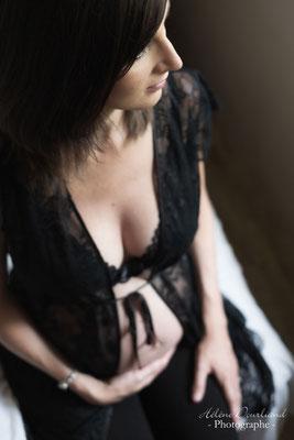 photo grossesse boudoir