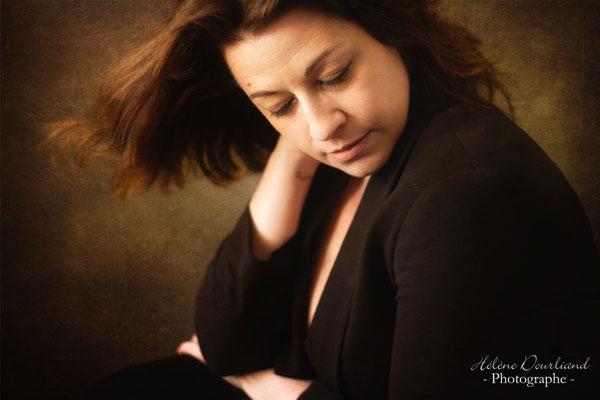 photo portrait d'art effet peinture