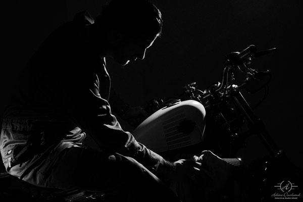 shooting séance photo moto