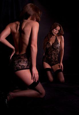 Shooting photo lingerie en studio en Yvelines
