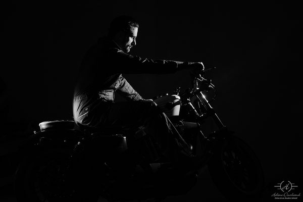 shooting photo moto homme