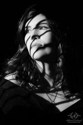 portrait femme noir et blanc Hollywood studio