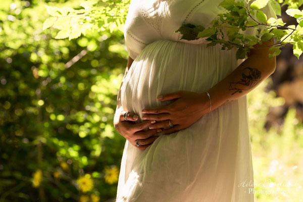 photo de grossesse en extérieur