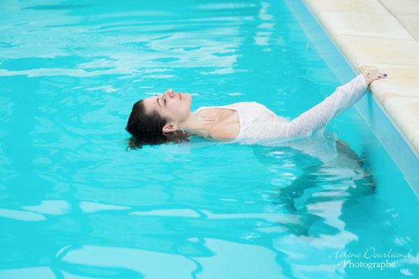 séance photo dans piscine en Yvelines