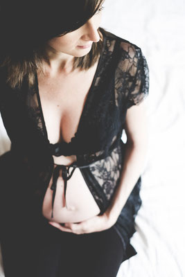 photo boudoir grossesse