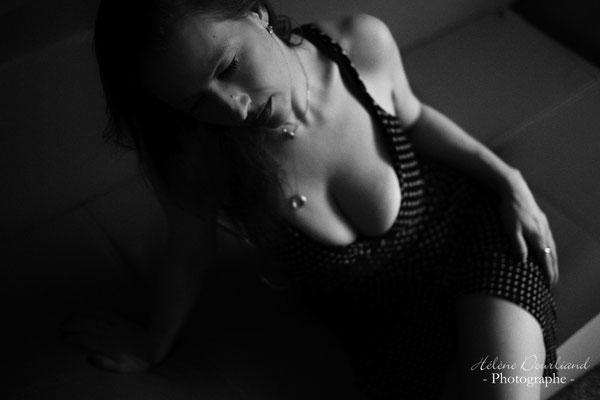 Photos boudoir avec une robe