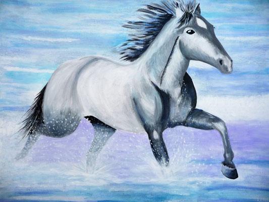 Paard in de branding, 2014  60x80