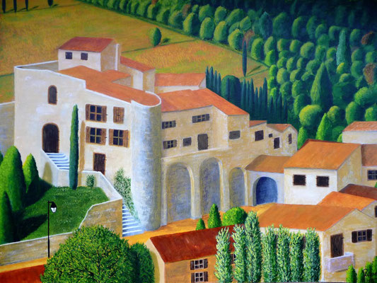 Aubegnas en Ardeche, 2015  60x80     In privébezit
