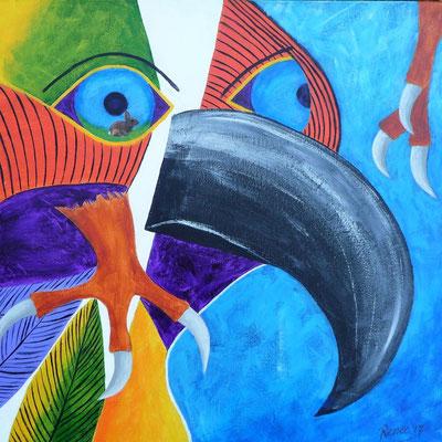 Arend, geïnspireerd door Pablo Picasso, 2017  50x50