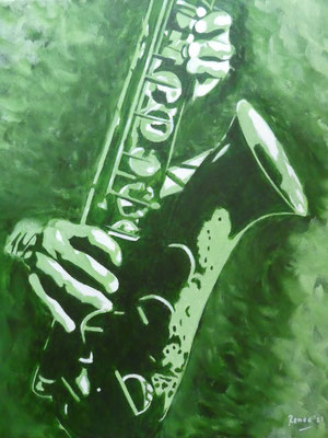 saxofoon (Pinterest, Doors), 2021  40x50