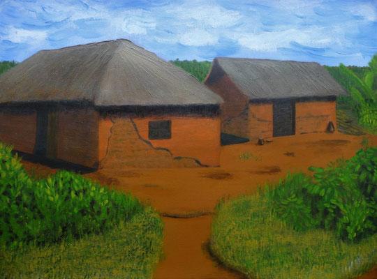 Dorp in Tanzania, 2013  50x70