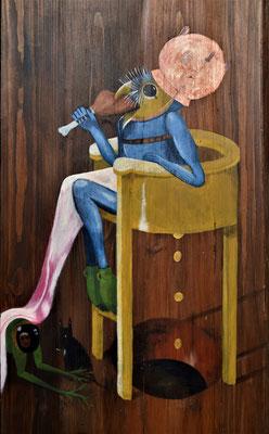 'Duivelse Kakstoel' uit 'Tuin der Lusten', Jeroen Bosch, 2016  45x95