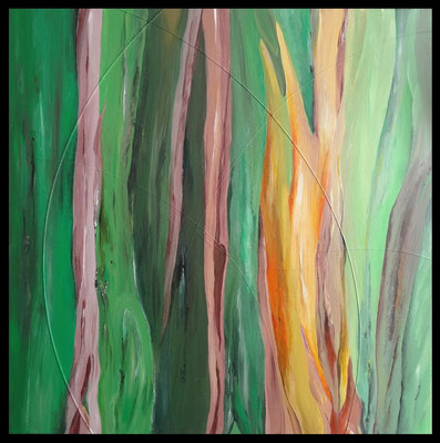 Rainbow Eucalyptus 60x60 cm acrylique