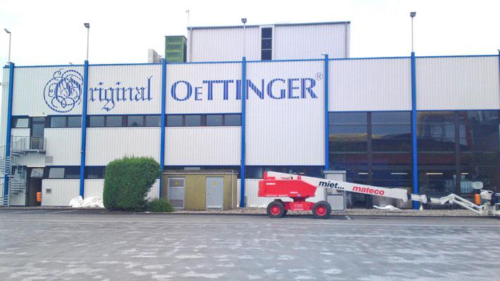 Fassadenbeschriftung Oettinger Brauerei Gotha