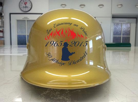 Feuerwehr Jubiläumshelm mit Plottfolie