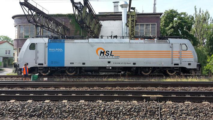 Lokbeschriftung HSL Logistik