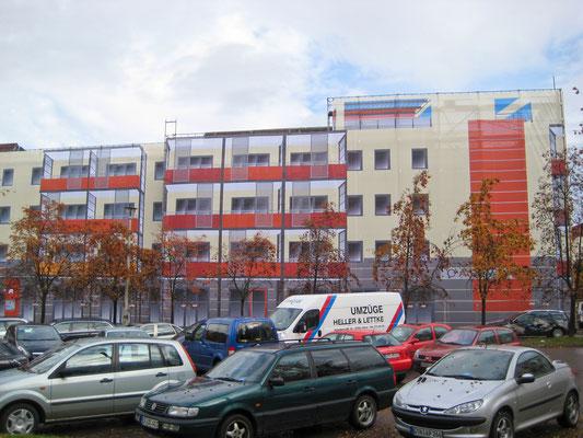 Einhüllung Gebäude Bürgeraue Gotha