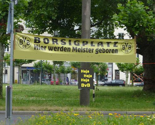 Borsigplatz  Plakat Heja BVB  Führung Fussball Fieber Dortmund
