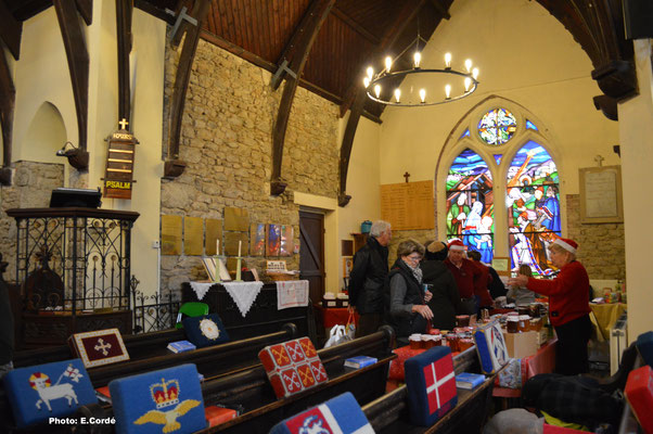 L'église le jour du Marché de Noël
