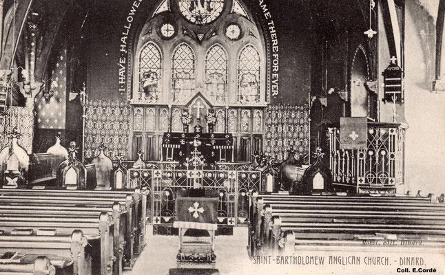 Le chœur au début du XXème siècle.