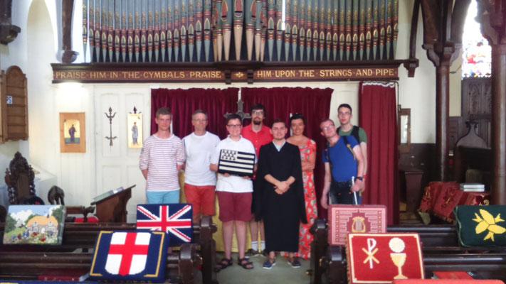 Visite de la classe d'orgue et chant choral du lycée St-Vincent de Rennes (professeur: Jean-René André), le 5 Juillet 2018