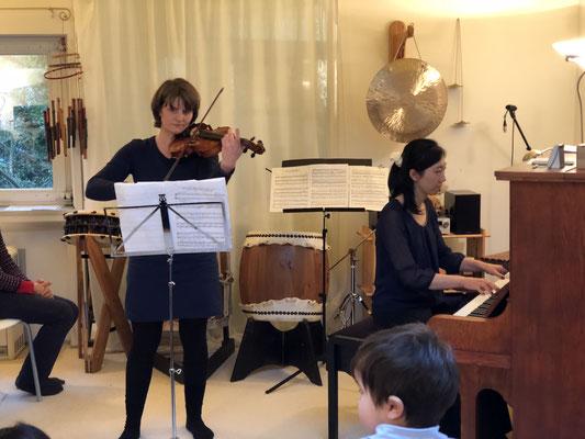 Geige und Klavier