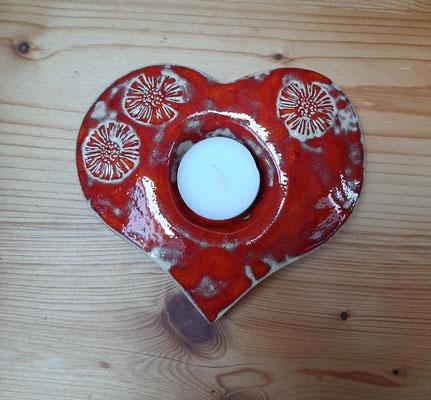 Teelichthalter Herz