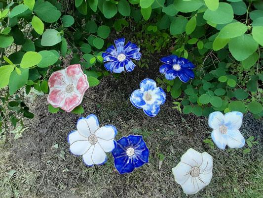 Gartenkeramik Blüten