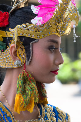 Bailarina javanesa / Javanese dancer. Palace of the Sultan. Yogyakarta. Central Java. Indonesia 2018