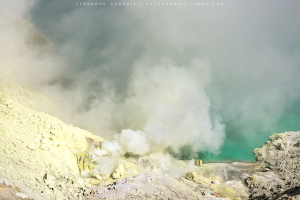 Kawa Ijen volcano. Java . Indonesia 2018