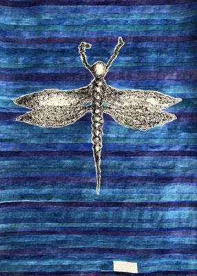 DEMOISELLE MAGNA GRECIA         Graphit, Ölkreide und Aquarell auf Papier - 70 x 29 cm