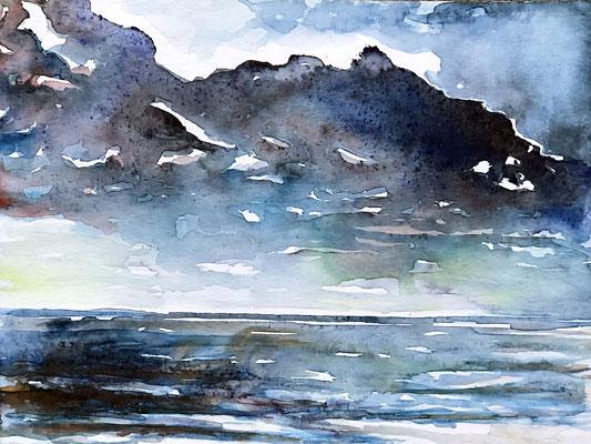 SENNEN I Aquarell auf Papier - 36 x 48 cm