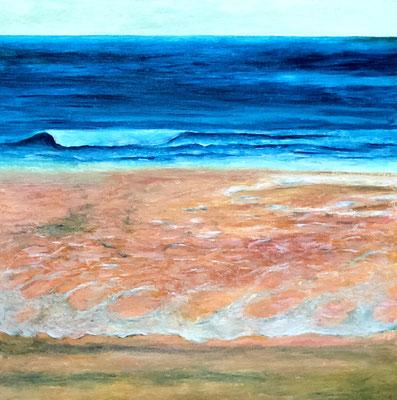 POTHMEOR BEACH, ST. IVES Acryl auf Leinwand - 40 x 40 cm