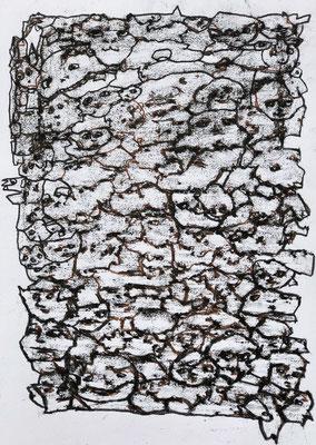 PICTS 2 Ölkreiden auf papier 42 x 30 cm