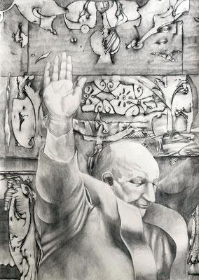 BREXIT Graphit auf Papier - 70 x 50 cm