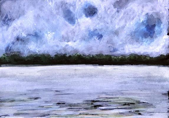 KLEINE UITZICHT Acryl auf Karton - 15 x 21 cm