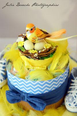 Gâteau de couches création bébé