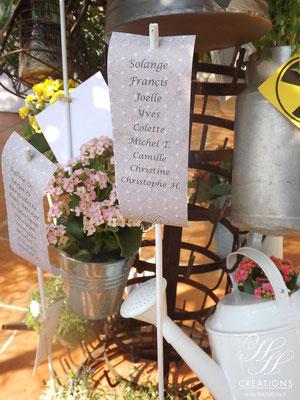 mariage champêtre fleurie